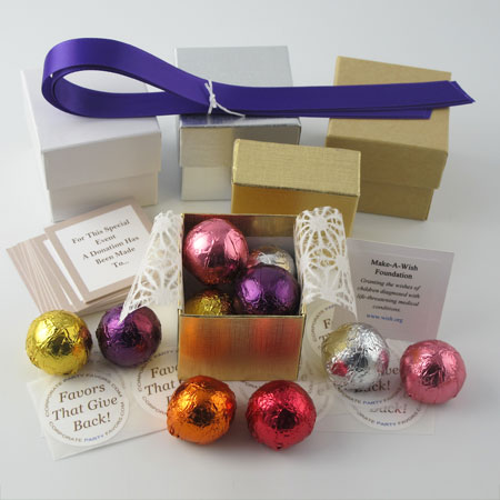 DIY assorted foil favors - Corporate Party Favors
