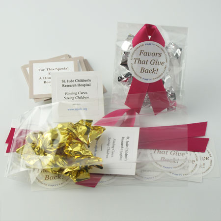 DIY favors with 4 mini truffles - Corporate Party Favors